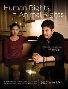 Rodrigo y Gabriela Vegan Ad for PETA